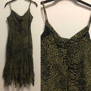 Betsey Johnson chiffon dress animal print